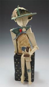 Thinking of Home ceramic sculpture