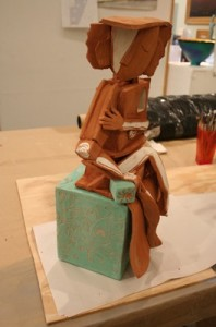 terra cotta figure side view